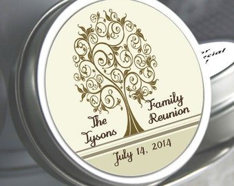 "12 Family Reunion Mint Tins - Tree of Life - - Select the quantity you need below in the ""Pricing & Quantity"" option tab"