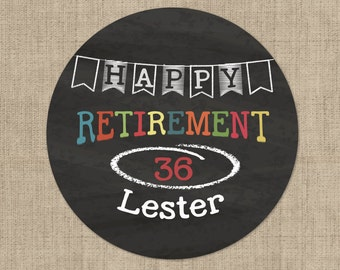 Retirement Stickers -  Retirement Banner Design  - Retirement Labels - Retirement Decor -Custom Retirement Stickers - Retirement Decor