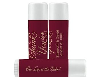 Thank You Lip Balm Labels - Personalized Lip Balm Labels - Thank You labels - 1 Sheet of 12 Lip Balm Labels - Custom Lip Balm Labels