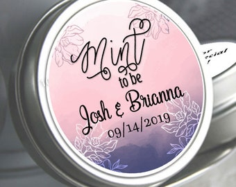 Wedding Decor -Wedding Favor Mint Tins - Personalized Wedding Favors - Wedding Decor - Mint to Be Favors - Fall Floral - Tin Mints