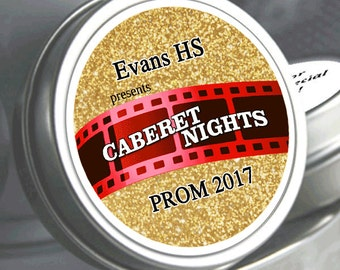 Cabernet Nights Prom Mint Tin Favors  - Prom part favors - Prom Favors - Prom Candy - Prom Candy Favors - Favors for Prom