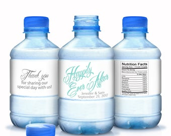 30 Personalized Wedding Water Bottle Labels - Wedding Bottle Wraps - Personalized Bottled Water Labels - Wedding Water Bottle Labels