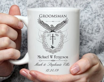 Bridal Party Coffee Mug Personalized - 15 oz coffee mug - Groomsman - Best Man - Bridal Party Mug - Wedding Party Gift - Wedding Favor
