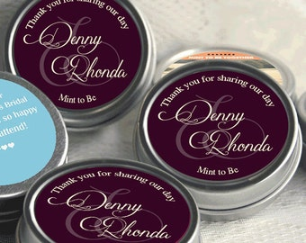 Wedding Favors -  Wedding Favors for Guests - Wedding Party - Unique Wedding Favors - Mint Tin Wedding Favors - 250 Mint Tins