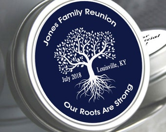 Family Reunion Mint Tins - Family Reunion - Family Tree - Reunion Favors - Family Reunion Decor - Family Reunion Party Favors