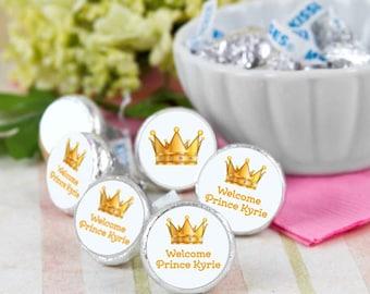 108 Welcome Prince Hershey Kiss® Stickers - Hershey Kiss Stickers Baby - Personalized Hershey Kiss Labels - Hershey Kiss Seals
