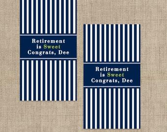 Retirement Party Hershey's Mini's Chocolate Wrappers, Retirement  Mini Wrappers, Retirement Stickers , Mini Wrappers, Mini Hershey Wrappers