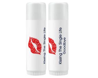 Lip Balm Labels   Personalized Lip Balm Labels - Kiss the Single Life Goodbye labels  1 Sheet of 12 Lip Balm Labels - Lips Lip Balm Labels