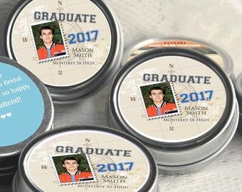 12 Graduation Mint Tin Favors - Graduation Party Favors - Graduation Photo Favors - Graduation Decor - Graduation Favors - Graduation Mints