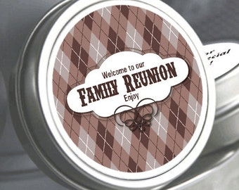 """12 Family Reunion Mint Tins - Backyard BBQ - Select the quantity you need below in the """"Pricing & Quantity"""" option tab"""
