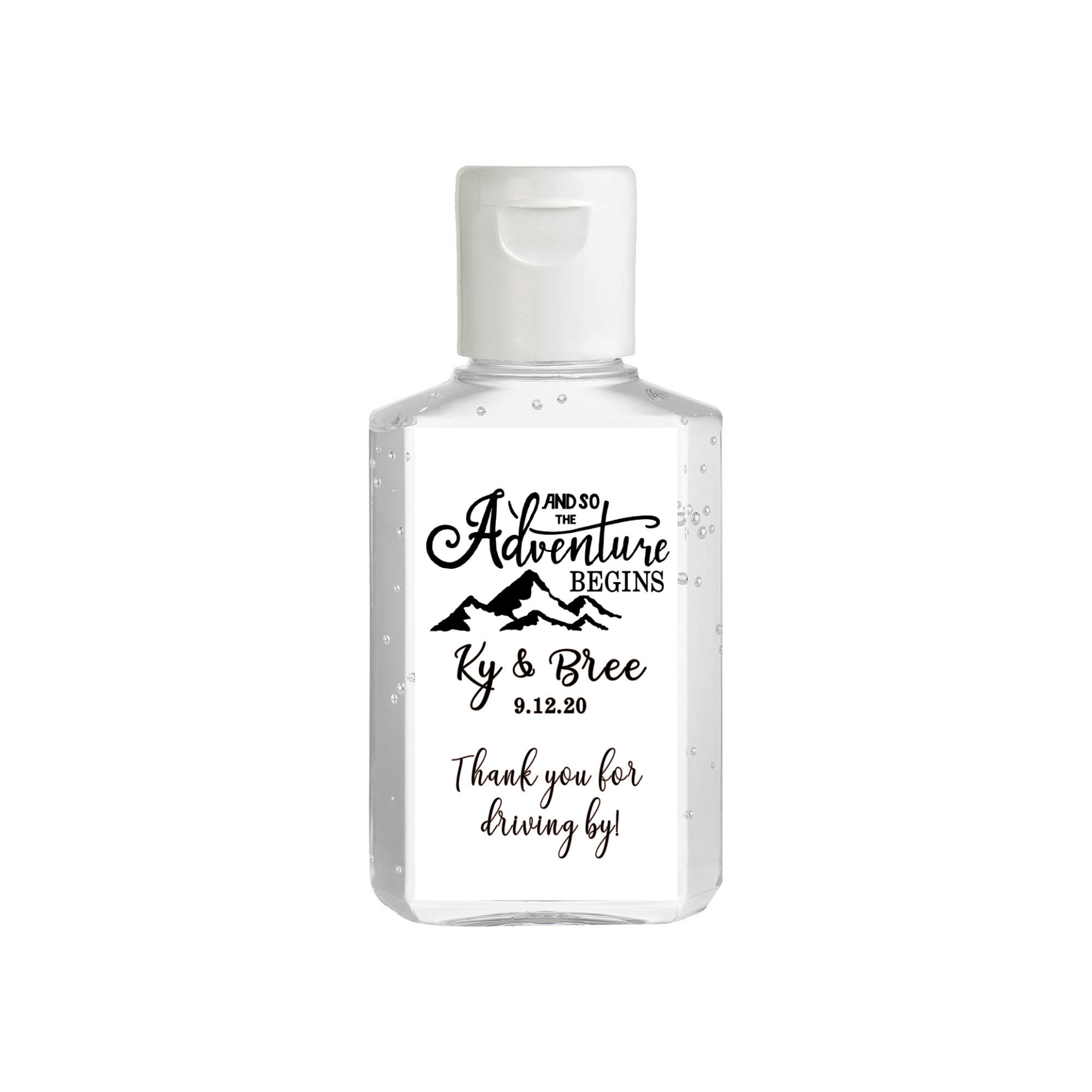 Simple Wedding Custom Hand Sanitizer Labels