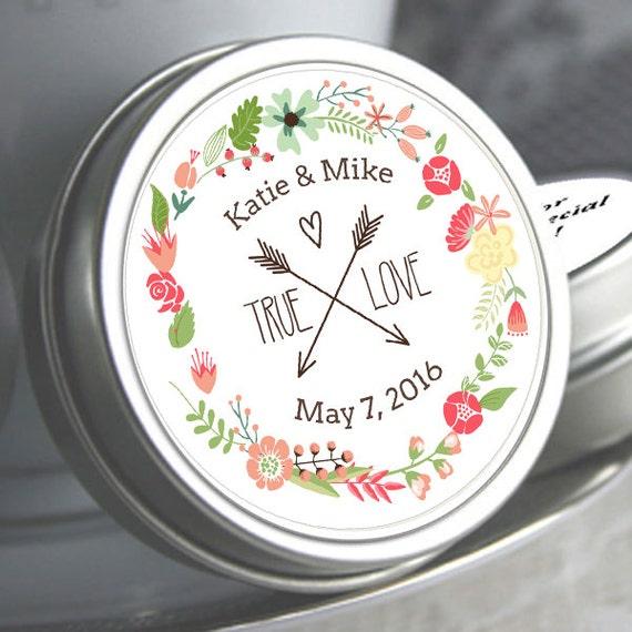 Personalized Wedding Favors Wedding Mints Wedding Tin Mints