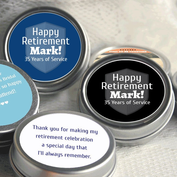 Set of 75 75 Personalized Custom Photo Clear Top Mint Tin Favors