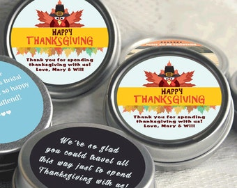 Thanksgiving Gift Ideas - 12 Thanksgiving Mint Tins  - Thanksgiving Favors - Thanksgiving Decor - Thanksgiving Party Favors