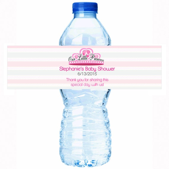 Our Little Princess Baby Shower Water Bottle Labels Select The