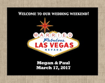 "4"" x 3""  Personalized Welcome Box Labels -  30 Wedding Welcome Bag Labels - Welcome Stickers - Box Stickers - Married in Las Vegas"