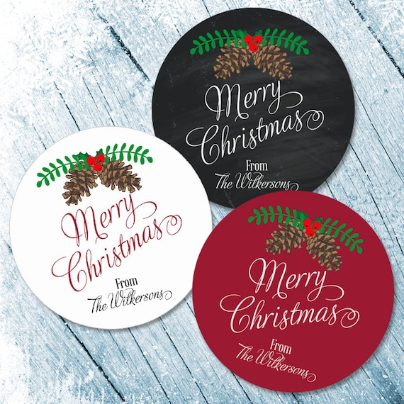 Merry Christmas Labels.Merry Christmas Labels Merry Christmas Stickers Happy