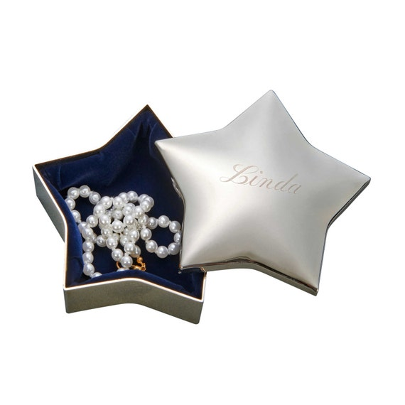 Star Shaped Jewelry Box Star Jewelry Box Bridesmaid Gifts