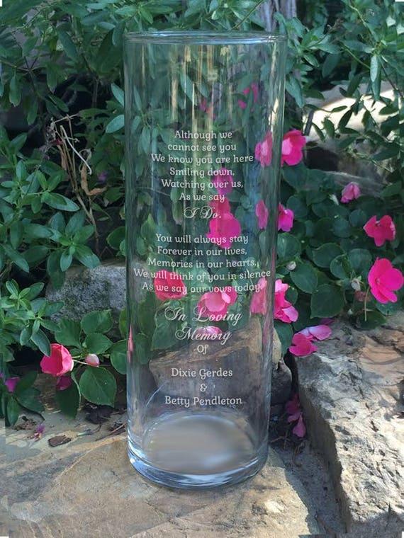 Memorial Vases In Loving Memory Vase Floating Wedding Etsy
