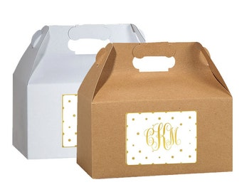 "4"" x 3""  Personalized Welcome Box Labels -  Wedding Welcome Bag Labels - Wedding Favor Labels - Welcome Stickers - Box Stickers - Monogram"