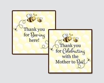 Our Sweet Bee Baby Shower Printable Favor Tag - Our Little Bee Baby Shower Favor Tags - Thank You Tag, Sweet Bee Favor Tags - 0001-LP