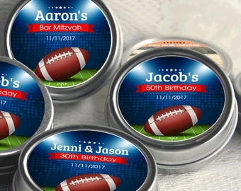 Personalized Football Party Favors, Football Birthday Favors, Football Favors, Football Shower Favor, Football Birthday Favor, Mint Tins