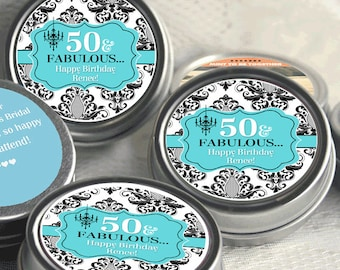 Breakfast at Tiffany's Birthday Favors - Breakfast at Tiffany's Party Decor - Mint Favors - Birthday Decor - Thank you Favors
