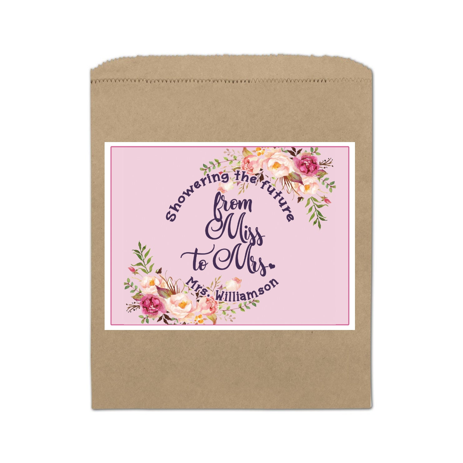 Personalized Lip Balm Labels - From Miss to Mrs Bridal Shower Lip ...