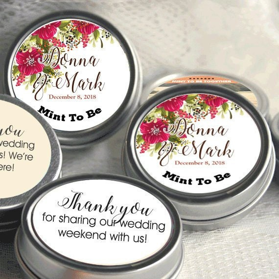 Personalized Mint Tins Nautical Wedding Favors Tin Mints Breathe Mints Personalized Wedding Favors Tied the Knot Wedding Favors
