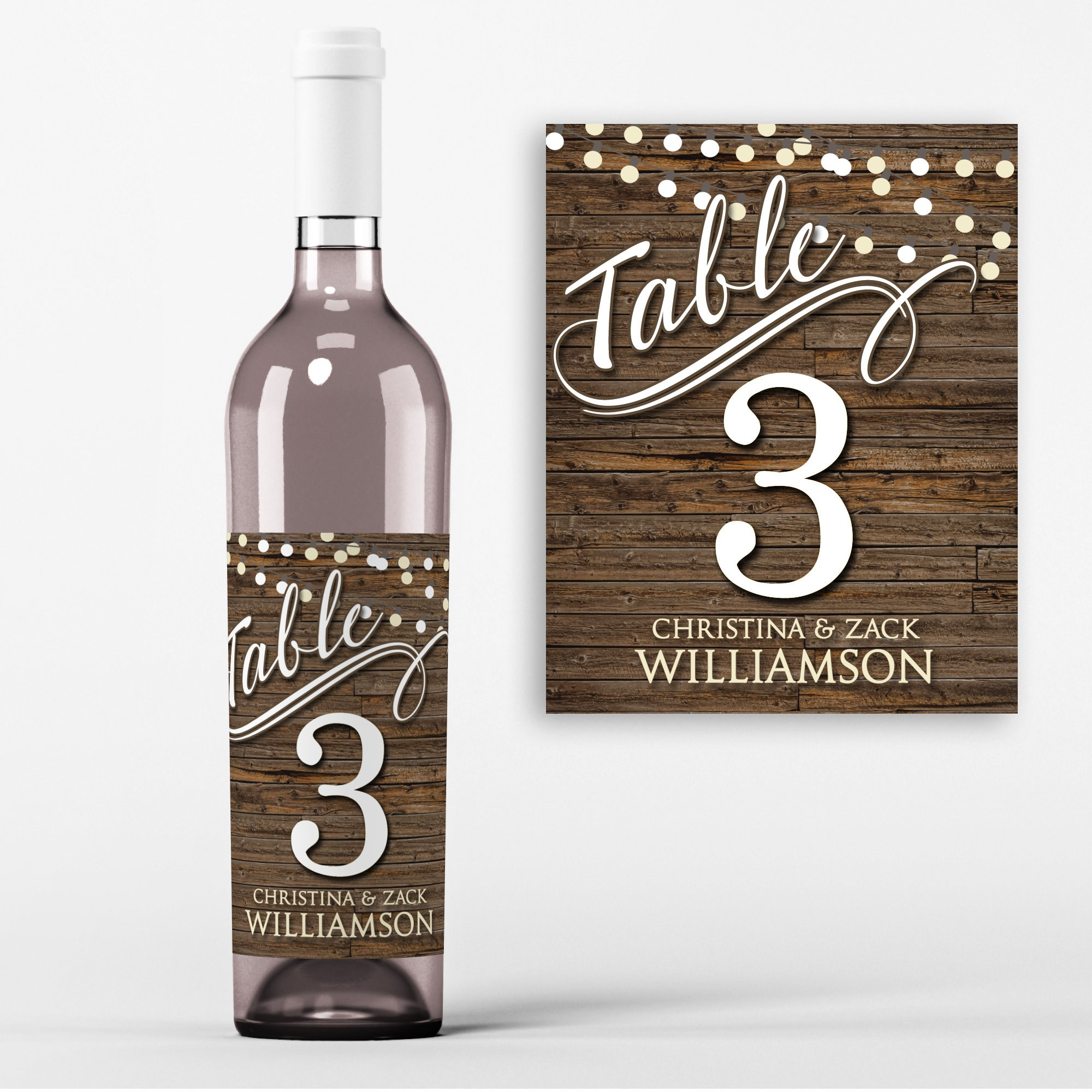 table number wine labels wedding wine favors table no wine labels