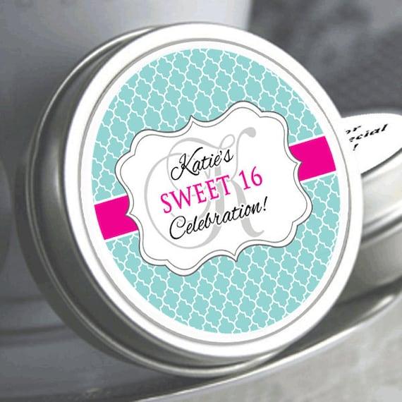 Sweet 16 Mints Labels
