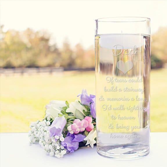 Memorial Vases In Loving Memory Vase Floating Wedding Memorial