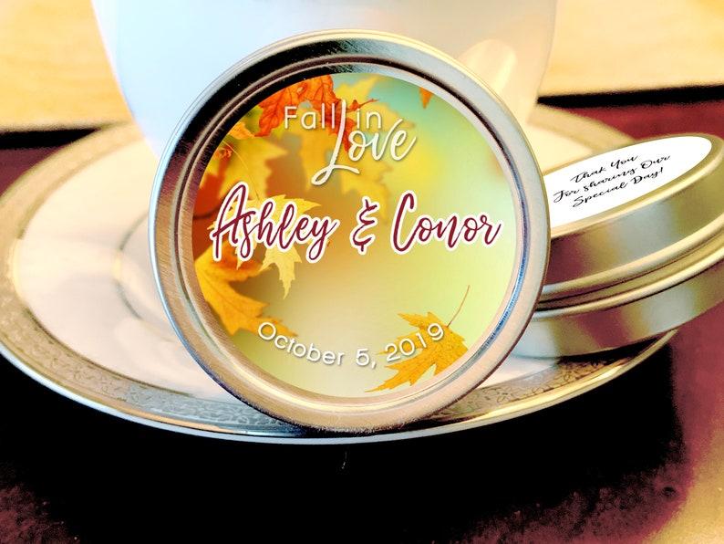 Fall Wedding Favors Personalized Wedding Favors Fall Bridal Shower Favors Fall Wedding Mints Fall Wedding Decor Fall in Love