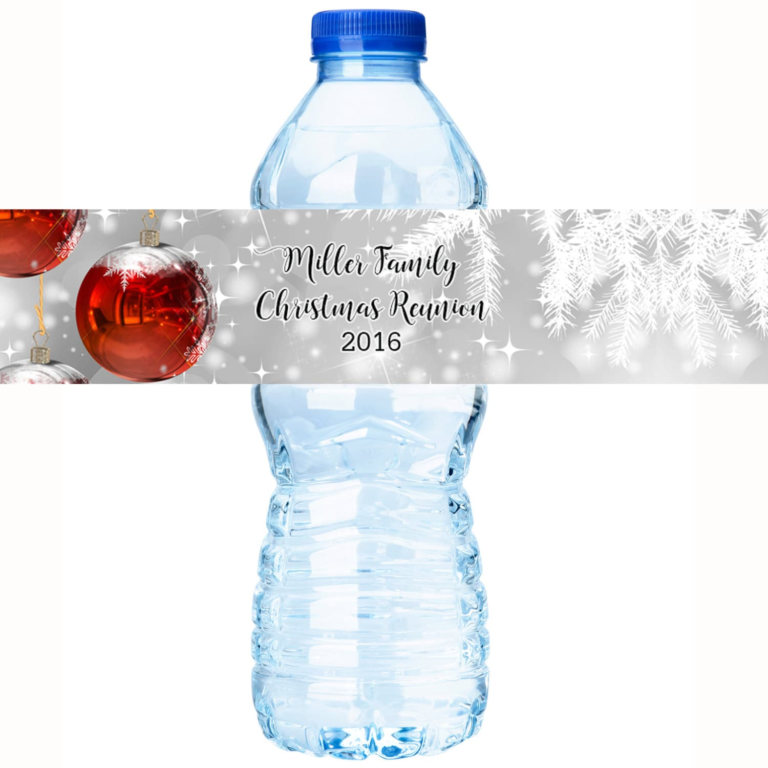 30 Christmas Water Bottle Labels Personalized Water Bottle Labels
