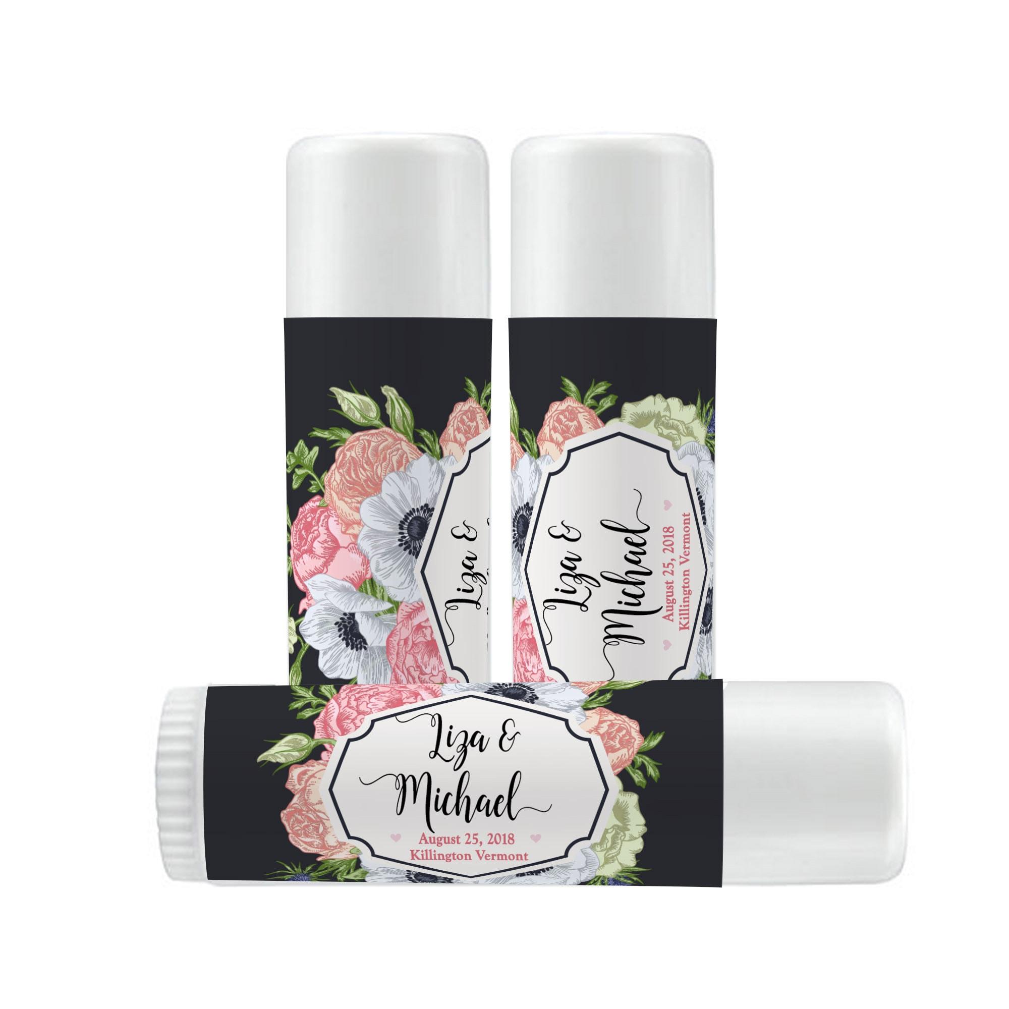 Lip Balm Labels - Personalized Lip Balm Labels - Wedding Favor Lip ...