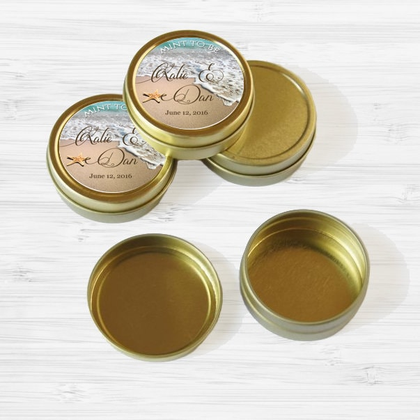 Wedding Favor Tins Gold Wedding Favor Tins Mint Tin Wedding