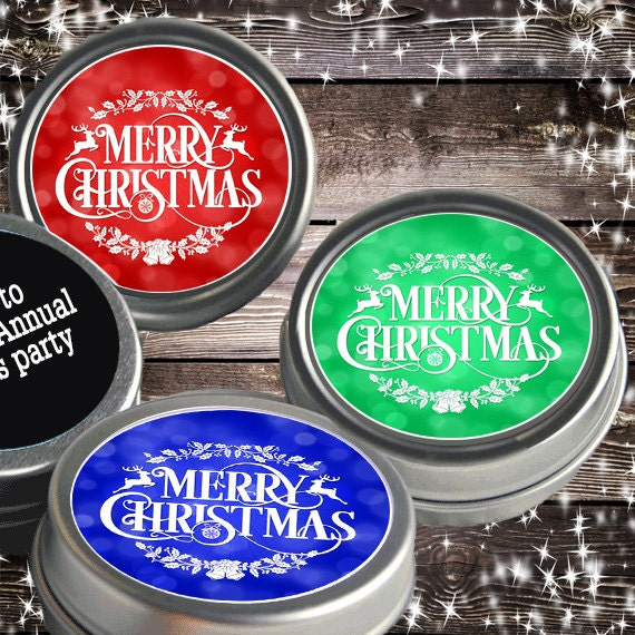 Christmas Favors Unicorn... Dabbing.. Christmas Party Favors Christmas Tin Mints 12 Personalized Christmas Mint Tins Favors