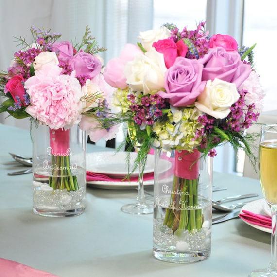 Bridesmaid Keepsake Reception Bouquet Vases Bridesmaids Vase Etsy