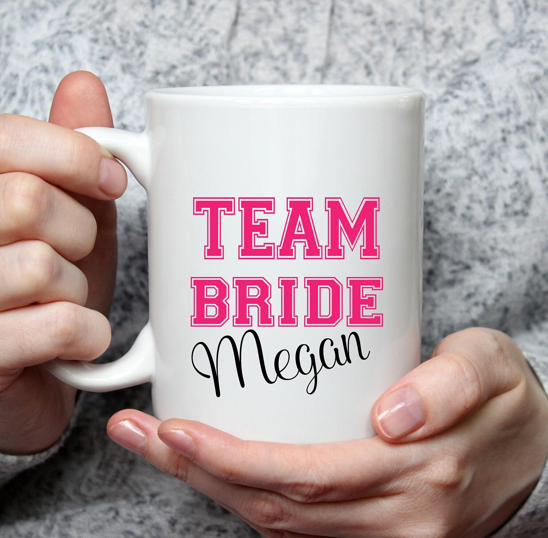 Team Bride Coffee Mug Personalized - 15 oz coffee mug - Bride Team ...