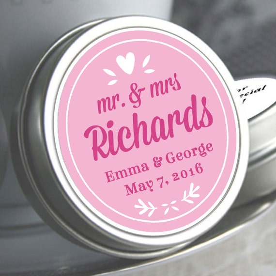 Wedding Favors 12 Personalized Wedding Mint Tins Wedding Decor