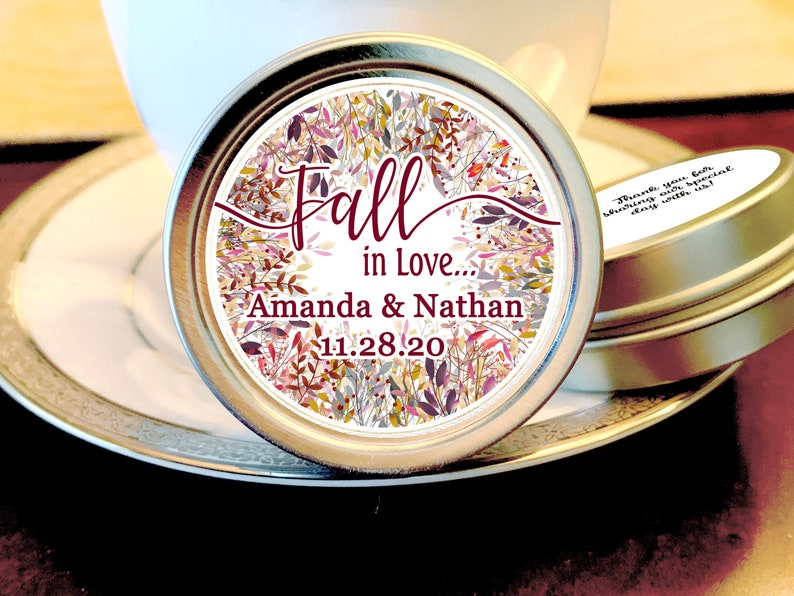 Fall Wedding Favors Fall in Love Bridal Shower Fall Wedding Mint Favors Wedding Favors for Guests Thank you Mint  Wedding Favor