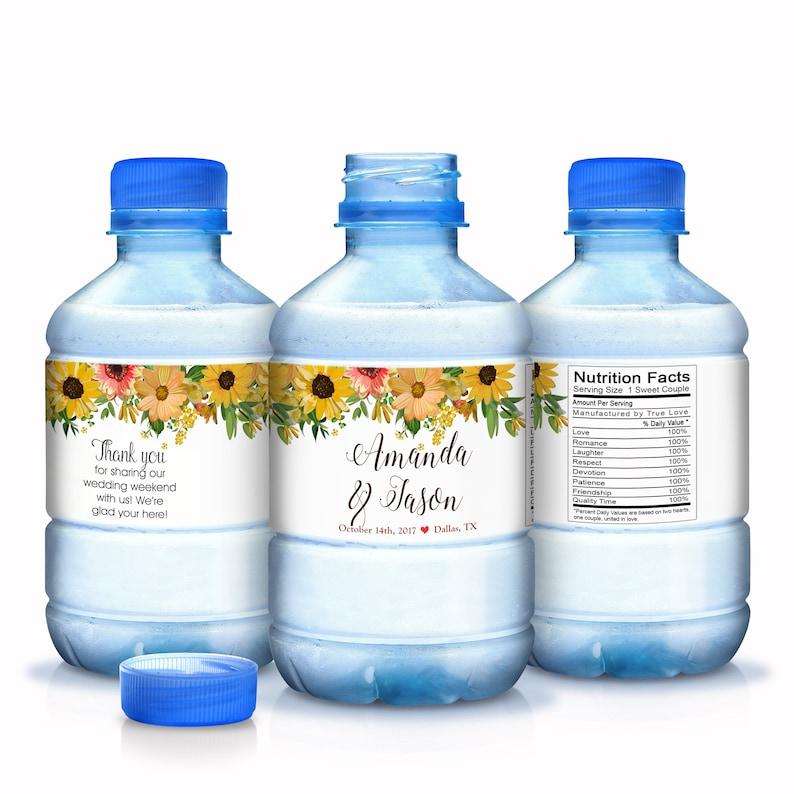 Wedding Water Bottle Labels Custom Water Bottle Labels 30 Wedding Water Labels 30 Waterproof Bottle Labels Fall Wedding Favors