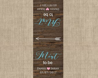 Mint To Be Tic Tac Label, 10 Mint To Be Tic Tac Stickers , Wedding, Bridal Shower Favors, New pink and blue, Rustic Wedding Mint Favors