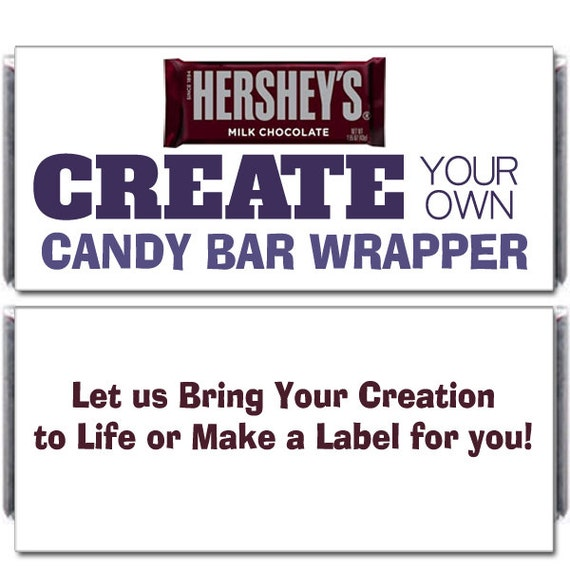 12 Custom Designed Candy Bar Wrappers For Hershey S Etsy