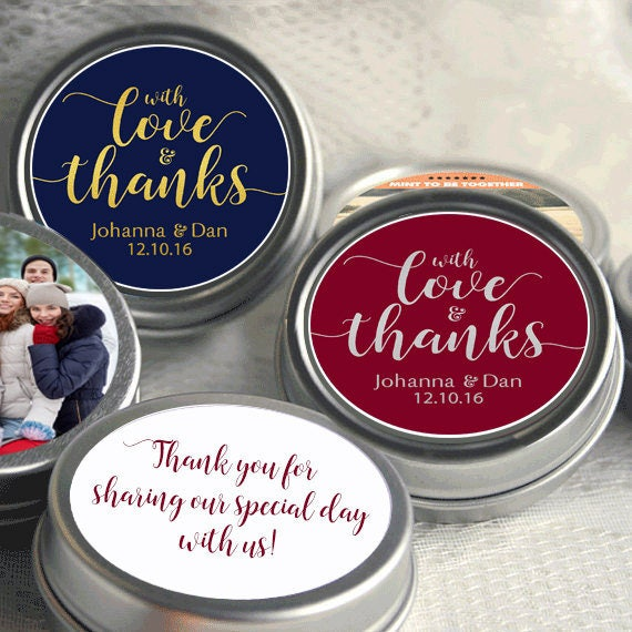 85 Personalized Wedding Mint Tins Wedding Favor Mint Tins