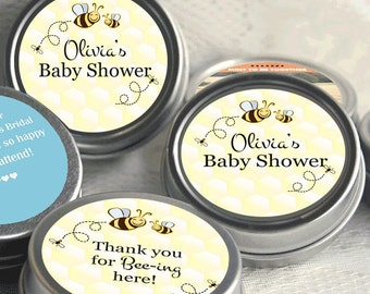 12 Bumble Bee Baby Shower Favors - Party Favors - Bumble Bee Birthday Favors - Bumble Bee Mint Tins - Baby Bee - Baby Shower Favors