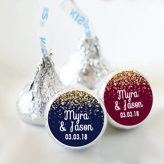 108 Ct Baby Shower or Birthday Hershey Kisses Labels Round Candy Label Party Favors Fastpitch Softball Hershey Kiss\u00ae Stickers