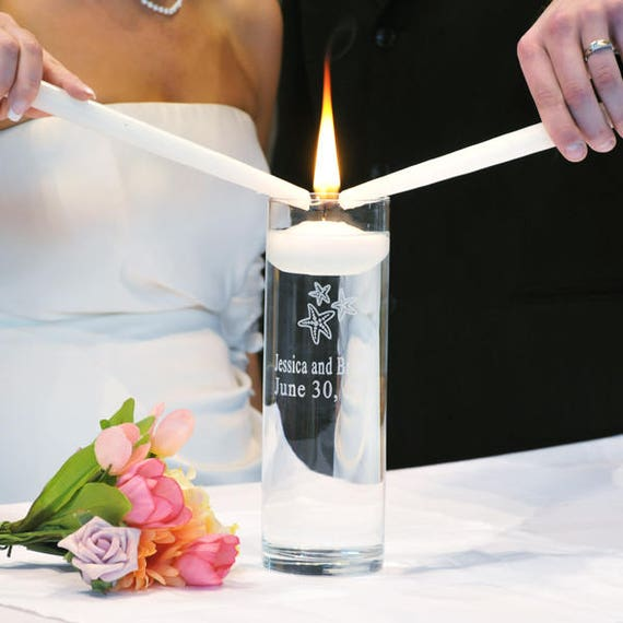 Personalized Floating Unity Candle Names And Date Starfish