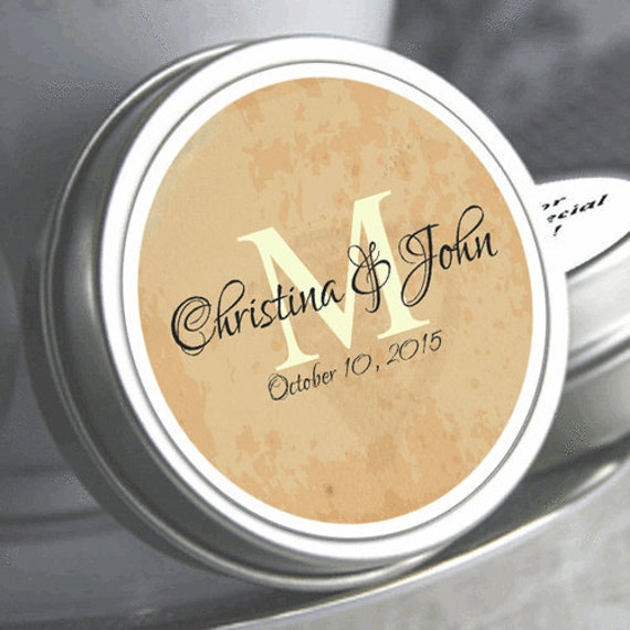 12 Personalized Beach Parchment Monogram Mint Tin Favors Beach
