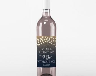 4 Wedding Wine Labels - Custom Wedding Wine Labels - Wine Labels - Thank You Wine labels - Will You Be My Bridesmaid - Maid of Honor